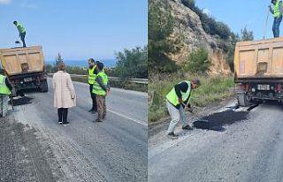 Değirmenlik-Çatalköy yolundaki hasar giderildi