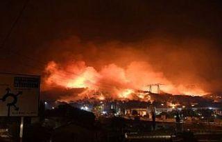 Fransa'nın güneyinde dün başlayan yangın nedeniyle...