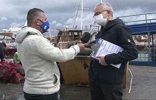 Gazimağusa Limanı'nda deniz dip temizliği
