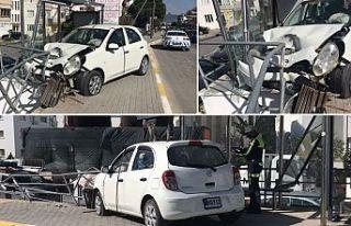 Girne'de korkutan kaza