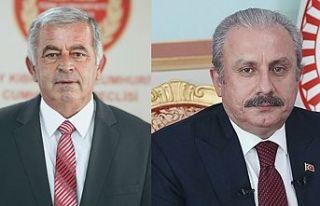Meclis Başkanı Sennaroğlu, TBMM Başkanı Şentop'u...