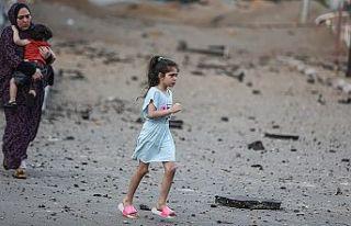 BM'ye bağlı kuruluşlardan Gazzeli çocukların...
