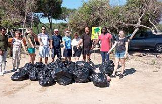 Girne, Gazimağusa ve Lefke bölgesinde sahil temizliği