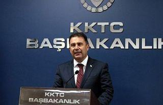 Başbakan Ersan Saner'den Basın açıklması