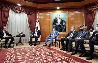 Başbakan Saner, T.C Ticaret Bakanı Muş'u kabul...