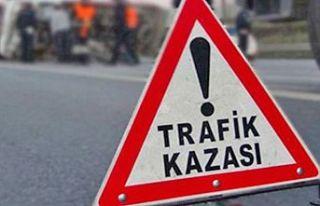 Cengizköy'de korkutan kaza