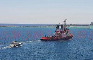 Larnaka'da arızalandı Gazimağusa'ya çekildi
