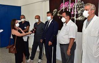 Sağlık Bakanı Üstel Lefkoşa Dr. Burhan Nalbantoğlu...