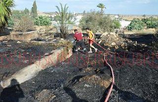 Sazlıköy'de yangın paniği yaşandı