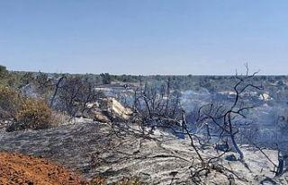 Bafra bölgesindeki yangın kontrol altına alındı