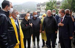 Cumhurbaşkanı Tatar'dan, sel felaketinin yaşandığı...