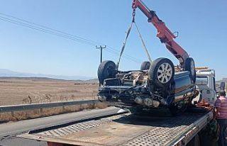 Lefkoşa-Güzelyurt ana yolunda trafik kazası