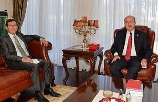 Cumhurbaşkanı Tatar, Merkez Bankası Müdürü Günay'ı...