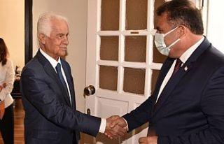 Saner 3. Cumhurbaşkanı Eroğlu'nu ziyaret etti