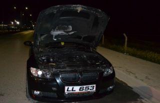 Lüks araçtaki hasar büyük