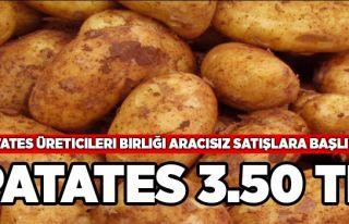 Halkımıza aracısız 3.50 TL'ye patates