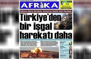 Afrika Gazetesi'ne iki dava da Ankara'dan