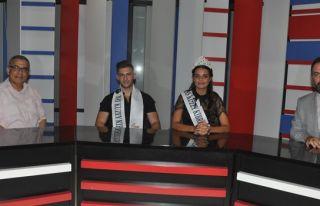 Kral ve kraliçe, Kıbrıs TV ana habere konuk oldu