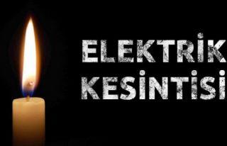 Bugün birçok bölgede elektrik kesintileri var