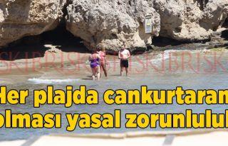 Her plajda cankurtaran  olması yasal zorunluluk