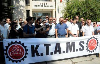 KTAMS, Merkez Bankası'nda 1 saatlik grev yaptı