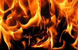 Yeşilyurt'taki yangında Nazım Öncen yaralandı