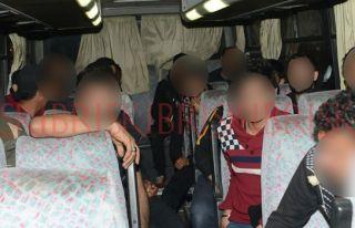 20 Suriye uyruklu  mülteci yakalandı