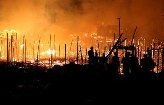Brezilya'da yangın 600 evi kül etti