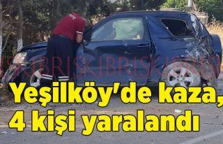 Yeşilköy'de kaza, 4 kişi yaralandı