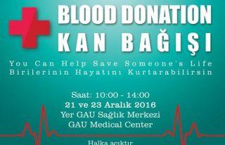 GAÜ'den kan bağışı kampanyası