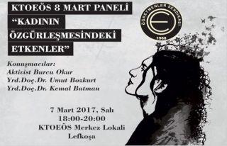 KTOEÖS'ün 8 Mart paneli bu akşam
