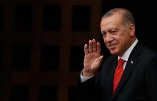 Erdoğan için Cumhurbaşkanlığı'nda resmi karşılama...