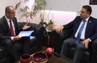 Gazeteciler Birliği Bakan Saner'e sorunlarını iletti