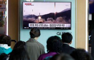 Kim'in füzesi sınırı aşamadan düştü