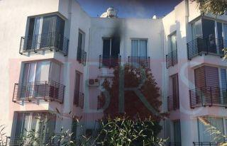 Ortaköy'de bir evde yangın