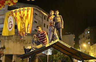 Galatasaray'ın şampiyonluğu kutlanıyor