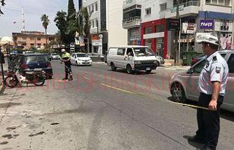 Mağusa'da trafik kazası 1 yaralı