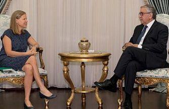 İsveç Büyükelçisi Akıncı'ya veda ziyaretinde bulundu