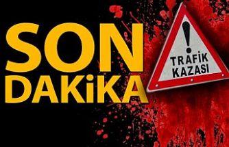 Girne'de motor kazası, 1 ağır yaralı