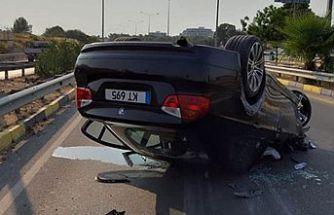 Girne'de meydana gelen trafik kazasında iki kişi yaralandı