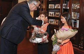 Küçük dansçılar Cumhurbaşkanlığı'nda