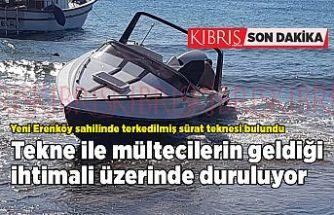 Yeni Erenköy sahilinde terkedilmiş sürat teknesi bulundu