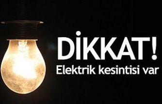 Ağırdağ'da yarın 6 saatlik elektrik kesintisi