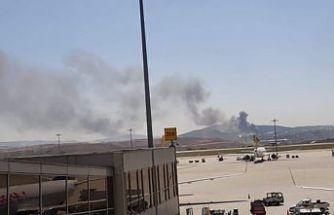 SON DAKİKA: Sabiha Gökçen Havalimanı yakınlarında büyük yangın!