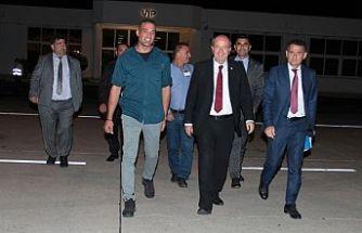 Tatar, Anamur'a gitmek üzere KKTC'den ayrıldı