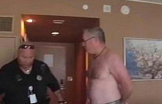 Otel odasında çıplak gezince başına iş aldı