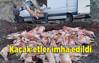 3 bin 825 kilo kaçak et imha edildi