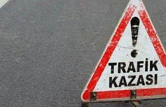 Bir kazada Mağusa'da! 6 araç hasar gördü, sürücü aracını bırakıp kaçtı