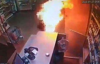 Eski karısını üzerine benzin döküp yaktı