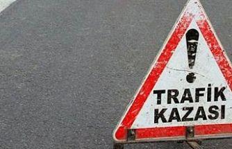 Lefkoşa-Girne yolunda bir kaza daha! Takla attı, tavanı üzerinde durdu